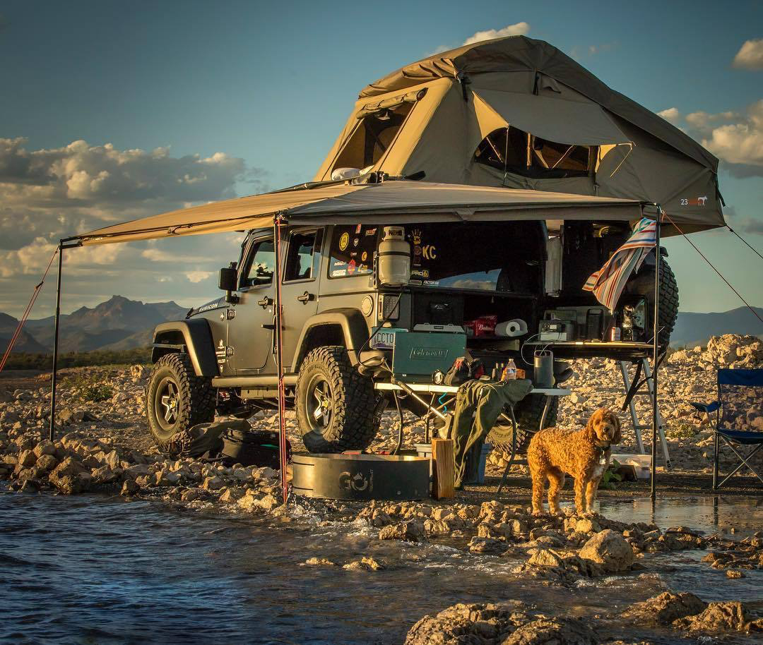 Camping in a Jeep